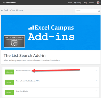 List Search Add-in Download Page