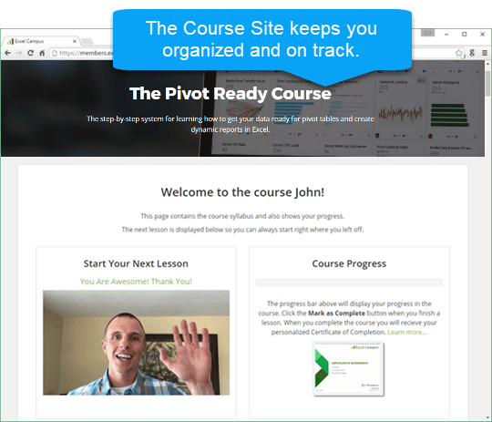 Course Software Keeps You On Track Pivot Ready