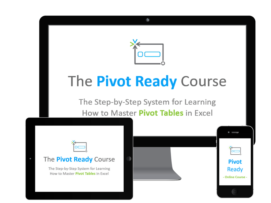 Pivot Ready Course Logo on 3 Screens