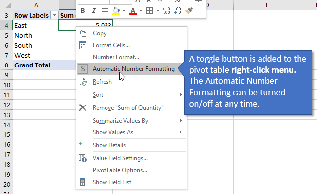 how to change number format in excel
