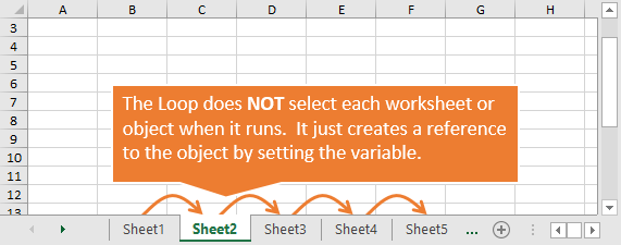 Loops Do NOT Select Each Item or Object