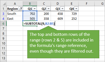 Auto Subtotal Shortcut Top and Bottom Rows Included