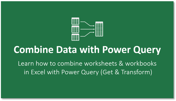 Combine Data with Power Query Course Logo 571