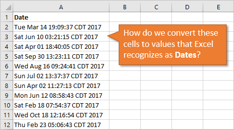 Challenge - How to Convert Text to Dates in Excel