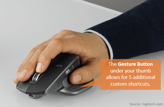 Logitech MX Master Gesture Button