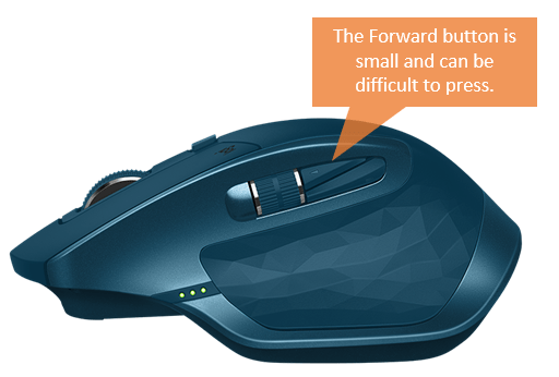 Logitech MX Master S2 Forward Button Small