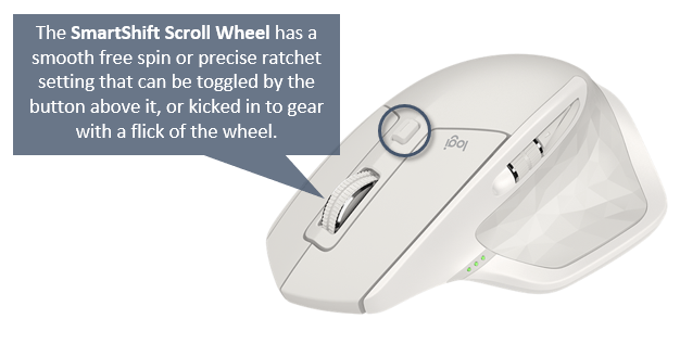SmartShift Scroll Wheel Settings for Logitech MX Master S2