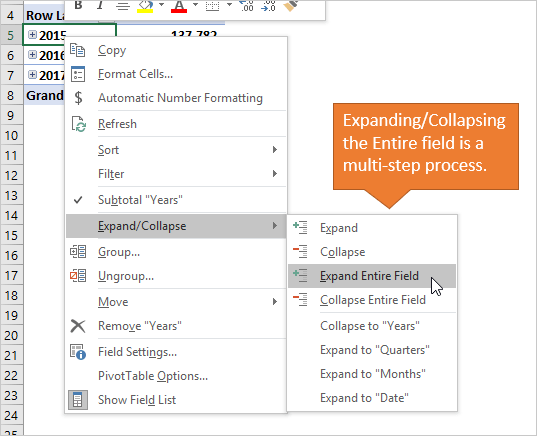 Expand Collapse Entire Field - Right-click Menu