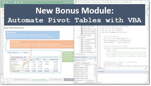 Automate Pivot Tables with VBA Thumb 550-2