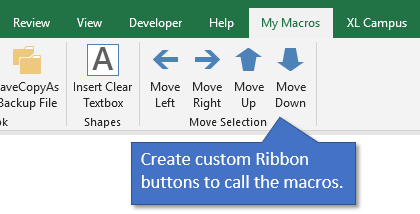 Custom Ribbon Button to Call Macros