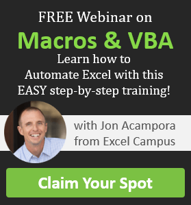Macros and VBA Training Webinar