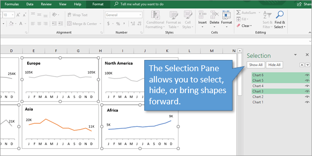 5 Ways to Select Multiple Shapes - Excel Campus