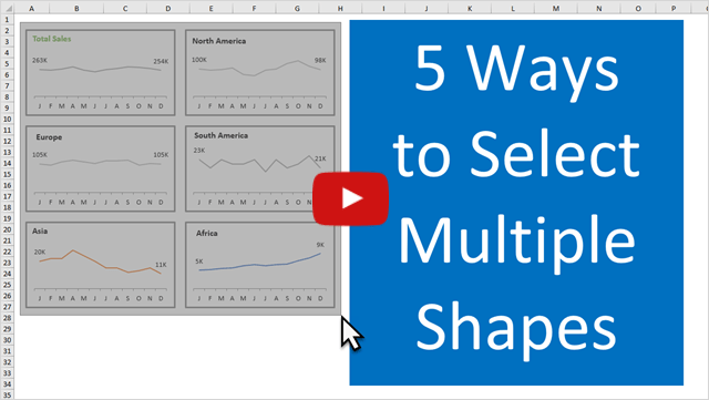 5 Ways to Select Multiple Shapes Video Thumb 640