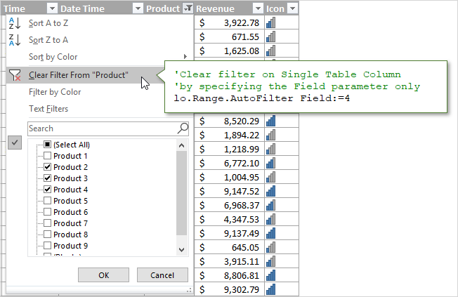 Clear Filter on Single Column VBA AutoFilter Method Field Only