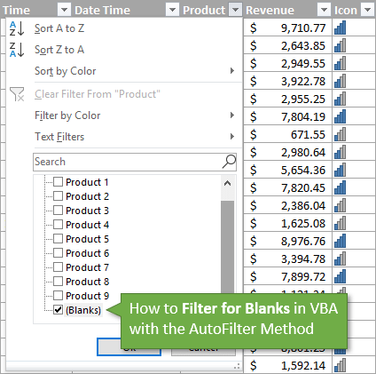 How to Filter for Blank Cells in VBA AutoFilter Method