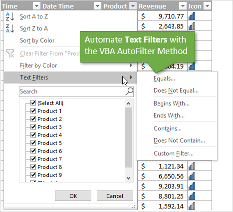How to Filter for Text with VBA Macros in Excel - Excel Campus