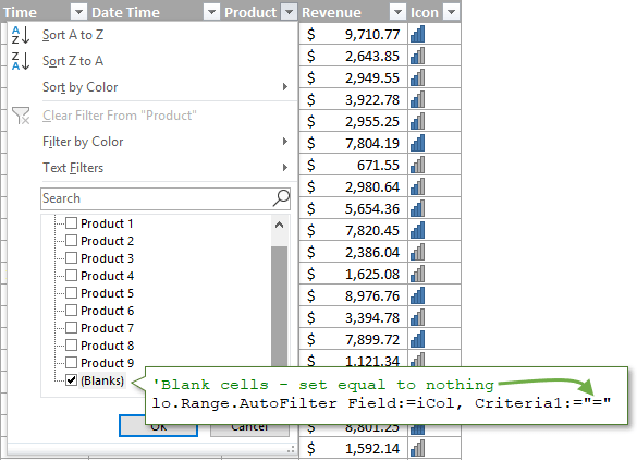 VBA AutoFilter Filter for Blank Cells