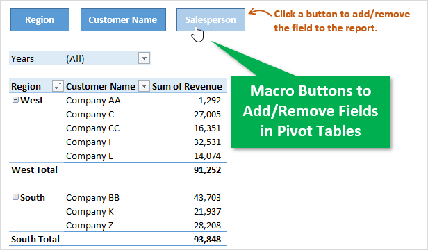 Macro Buttons to Add Remove Fields to Pivot Tables