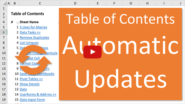 Table of Contents Automatic Updates Video Thumb 640