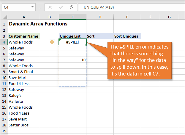 New Excel Features: Dynamic Array Formulas & Spill Ranges
