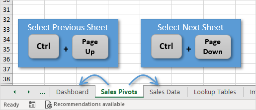 7 Shortcuts for Working with Worksheet Tabs in Excel - Excel