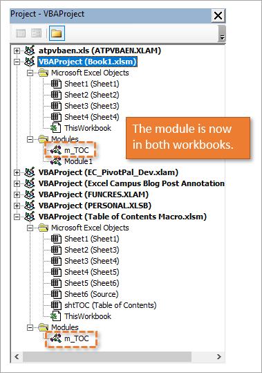 Module duplicated in two workbooks