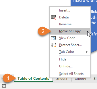 Move or Copy a Worksheet