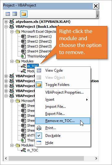 Remove a module
