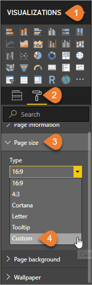 Choose Custom Page Size from the Format menu
