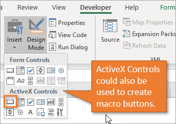 Cannot Insert Object In Excel 2016 Activex Control