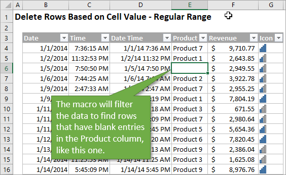 VBA Macro to Delete Rows Based on Cell Values or Conditions in Excel