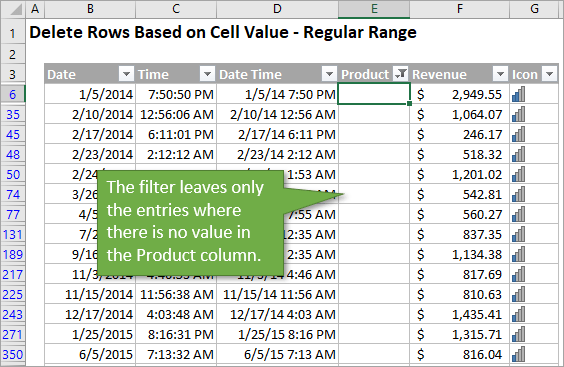 VBA Macro to Delete Rows Based on Cell Values or Conditions