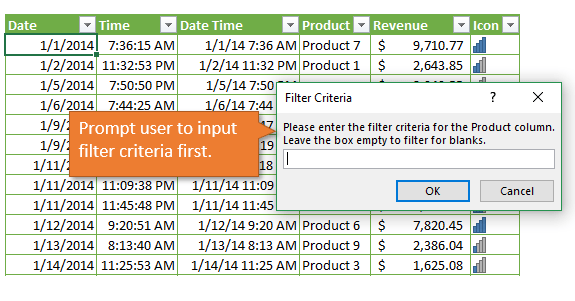 Input Box to Prompt User for Filter Criteria for Delete Rows Macro