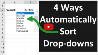 4 Ways to Automatically Sort Drop Down Lists Excel 640