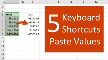 5 Keyboard Shortcuts to Paste Values in Excel