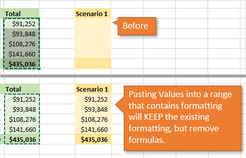 Paste Values into Range that Contains Formatting