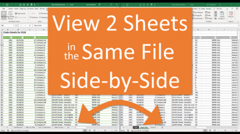 View 2 Sheets Side by Side in Same Workbook 640
