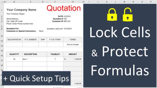 lock excel sheet formula