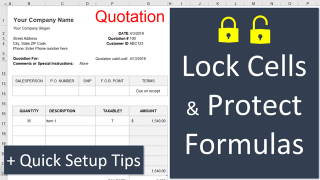 How to Lock Cells for Editing and Protect Formulas