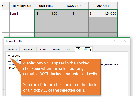 lock cell excel windows