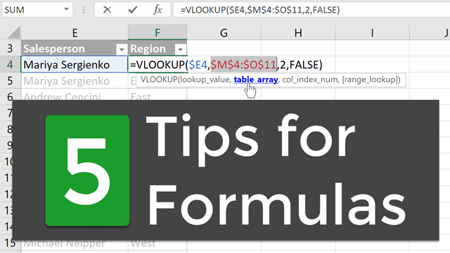 5 Formula Editing Tips for Excel - Excel Campus