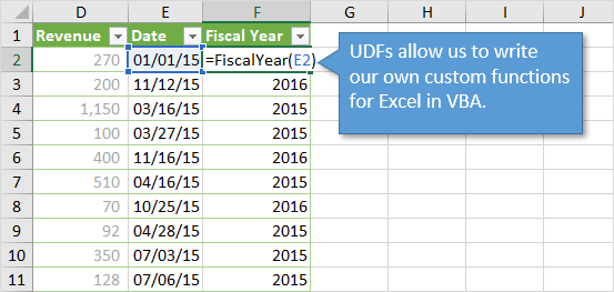 UDFs Write Custom User Defined Functions in Excel with VBA
