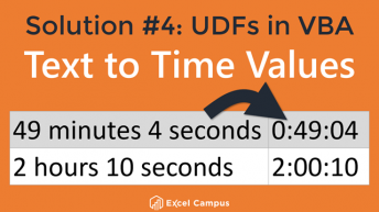 Text to Time Values - Solution 4 - UDFs VBA 640 Thumb