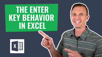 Enter Key Behavior in Excel