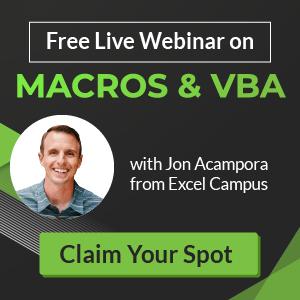 Macros and VBA Training Webinar