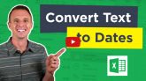 Convert Text to Dates In Excel with Find and Replace