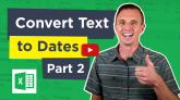 Excel Convert Text to Dates with Text to Columns YouTube Thumb