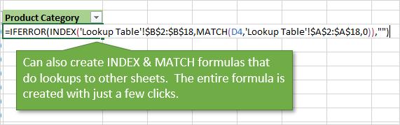 VLOOKUP Assistant - Create Formulas - Index Match Formulas