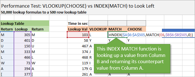 Index Match Formula