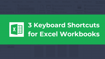 3 Keyboard Shortcuts for Excel Workbooks Thumbnail